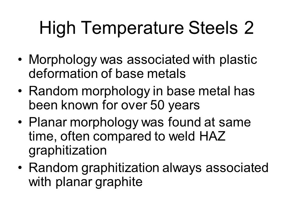 High Temperature Steels 2