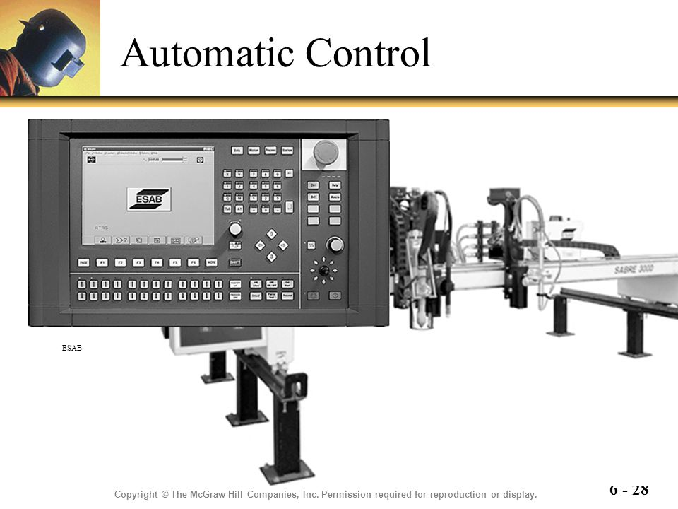 Automatic Control ESAB. Copyright © The McGraw-Hill Companies, Inc.