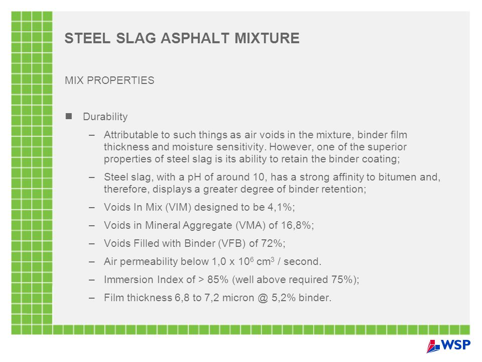 STEEL SLAG ASPHALT MIXTURE