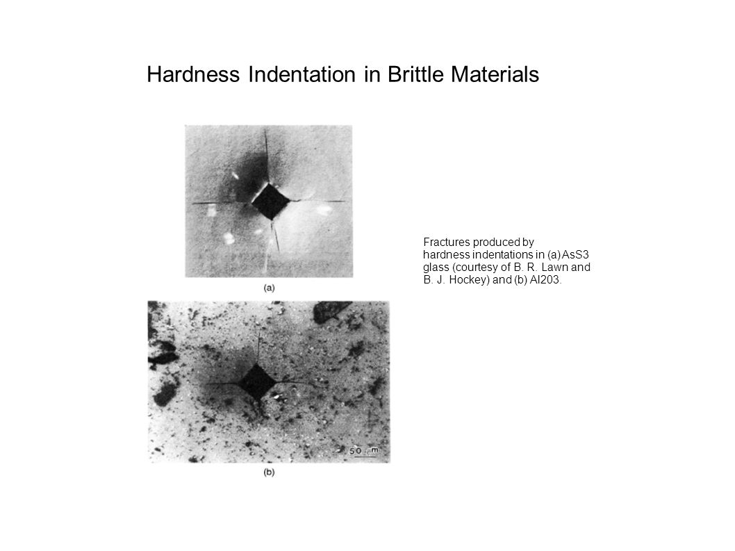 Hardness Indentation in Brittle Materials
