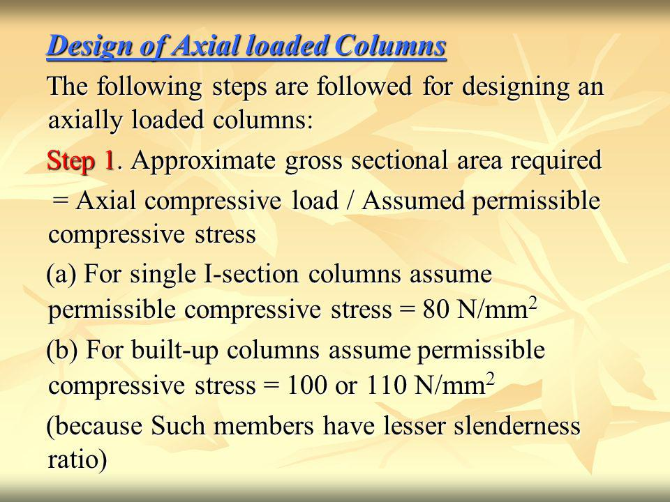Design of Axial loaded Columns