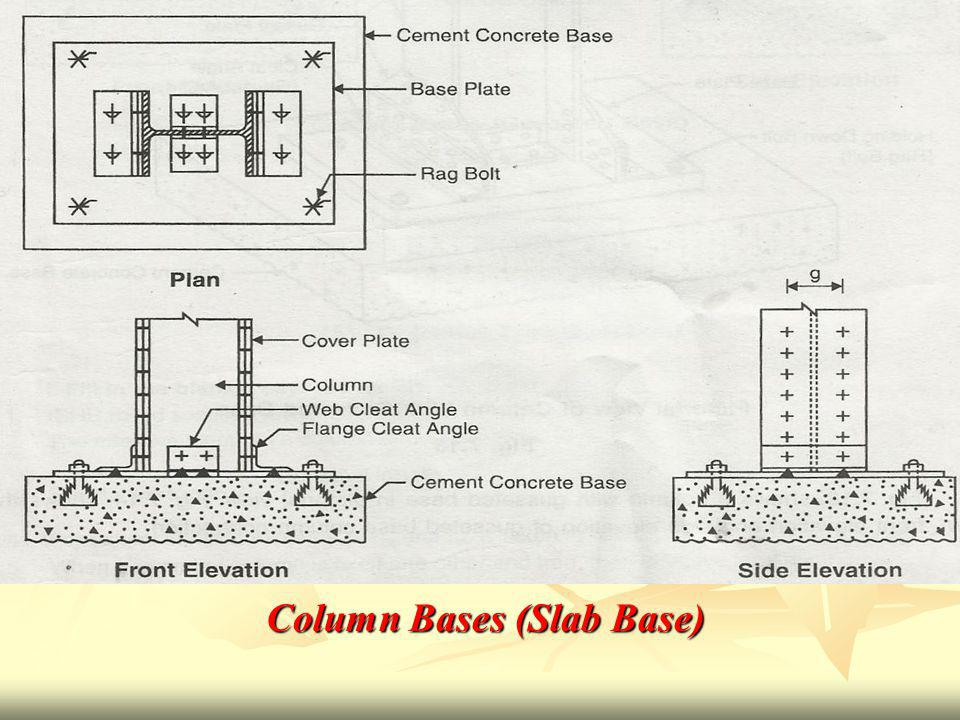 Column Bases (Slab Base)