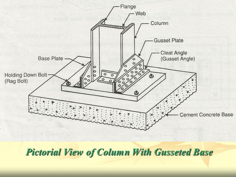 Pictorial View of Column With Gusseted Base