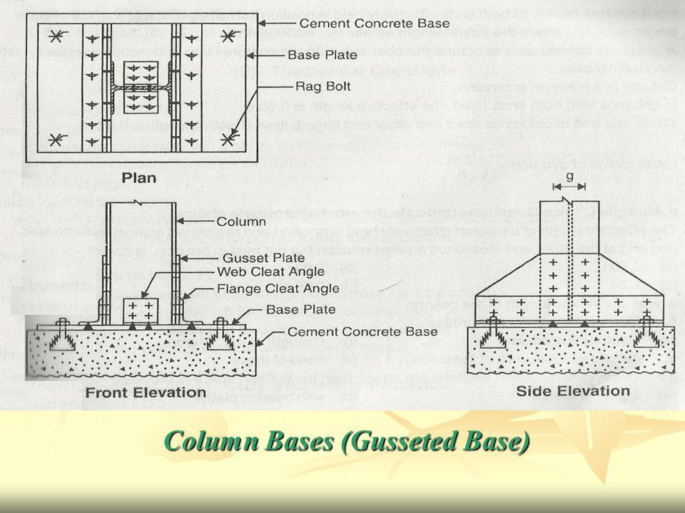 Column Bases (Gusseted Base)