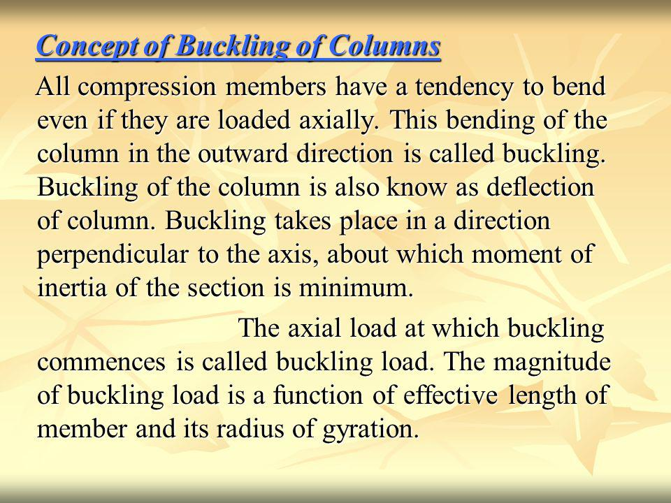 Concept of Buckling of Columns