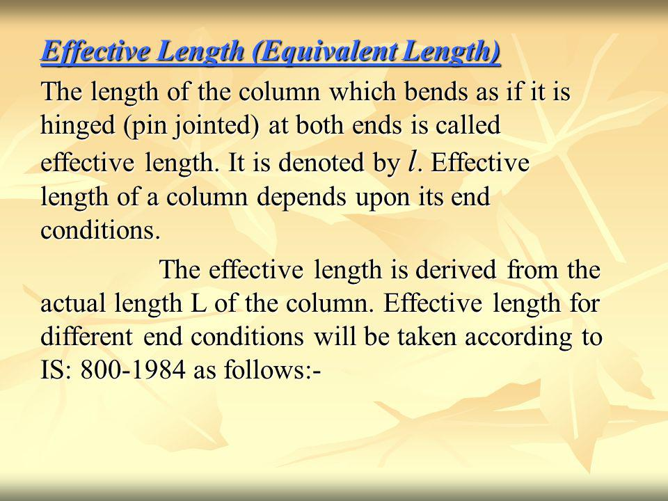 Effective Length (Equivalent Length)
