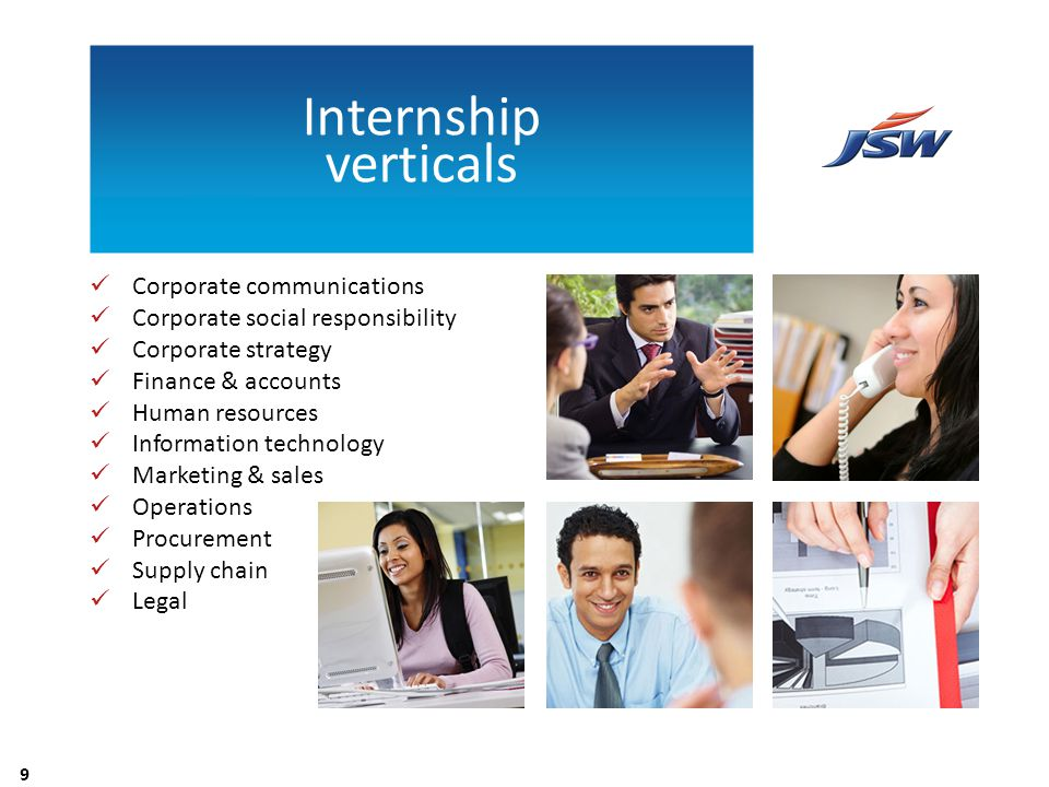 Internship verticals Corporate communications