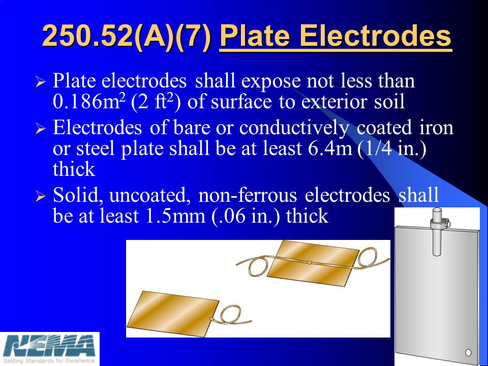 250.52(A)(7) Plate Electrodes