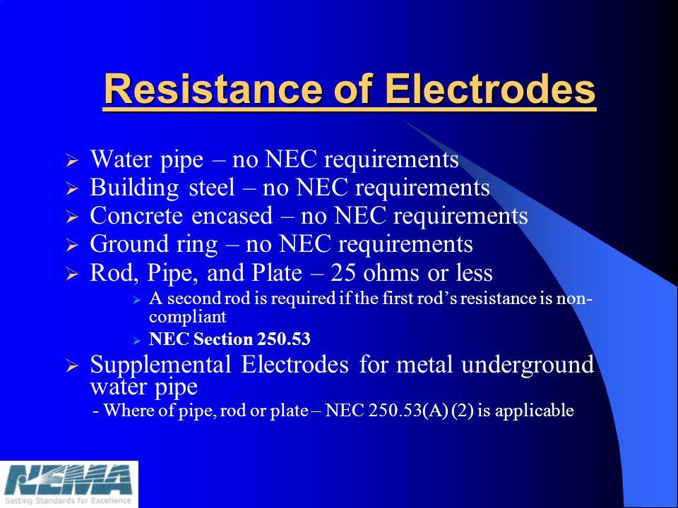 Resistance of Electrodes