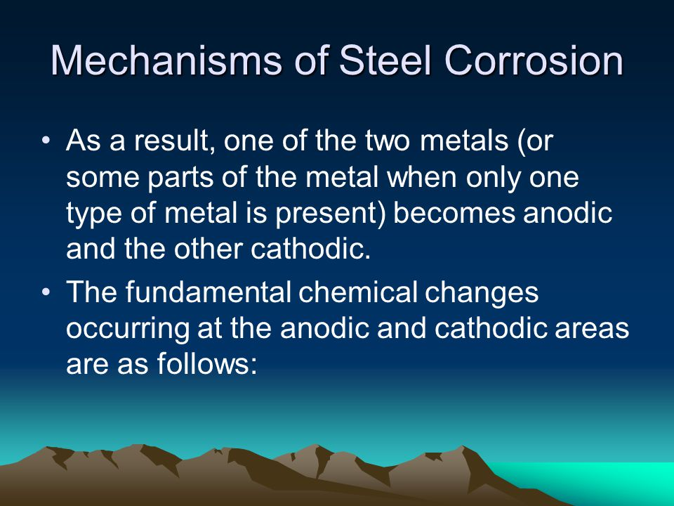 Mechanisms of Steel Corrosion