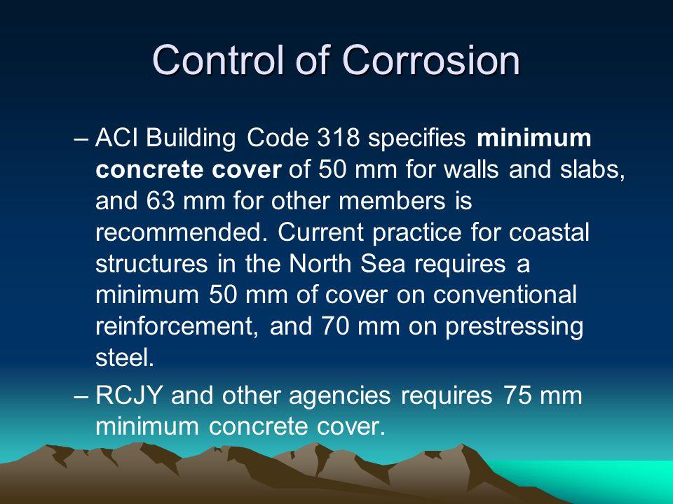 Control of Corrosion