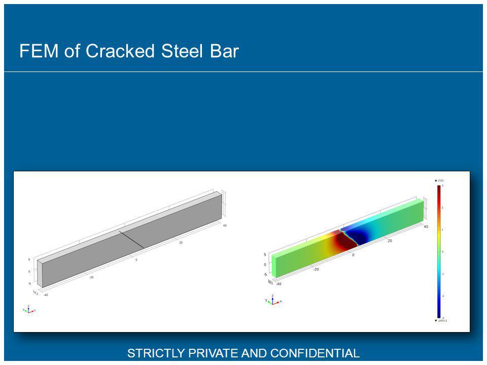 FEM of Cracked Steel Bar