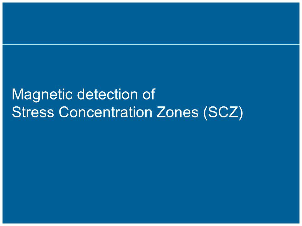 Magnetic detection of Stress Concentration Zones (SCZ)