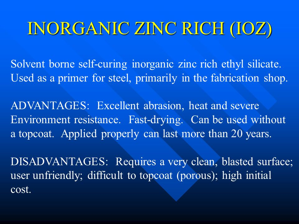 INORGANIC ZINC RICH (IOZ)