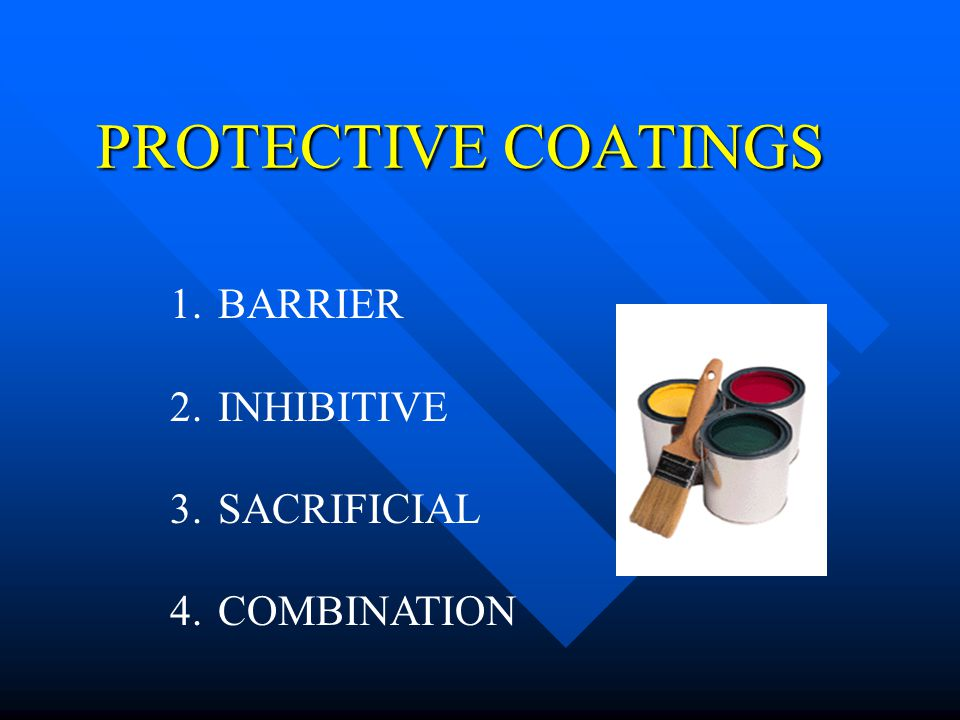PROTECTIVE COATINGS BARRIER INHIBITIVE SACRIFICIAL COMBINATION