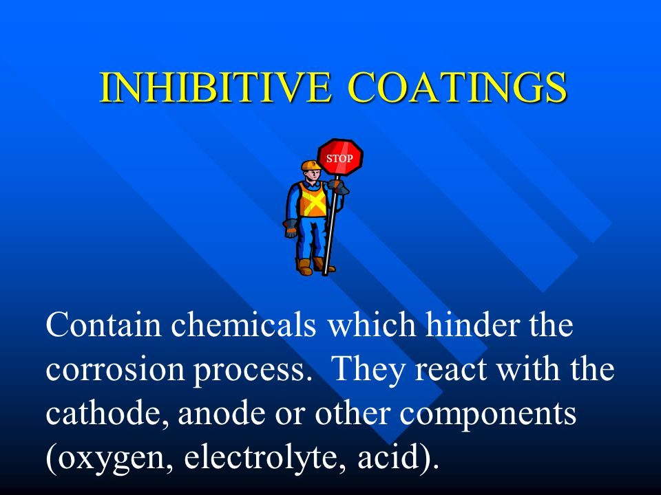 INHIBITIVE COATINGS STOP.