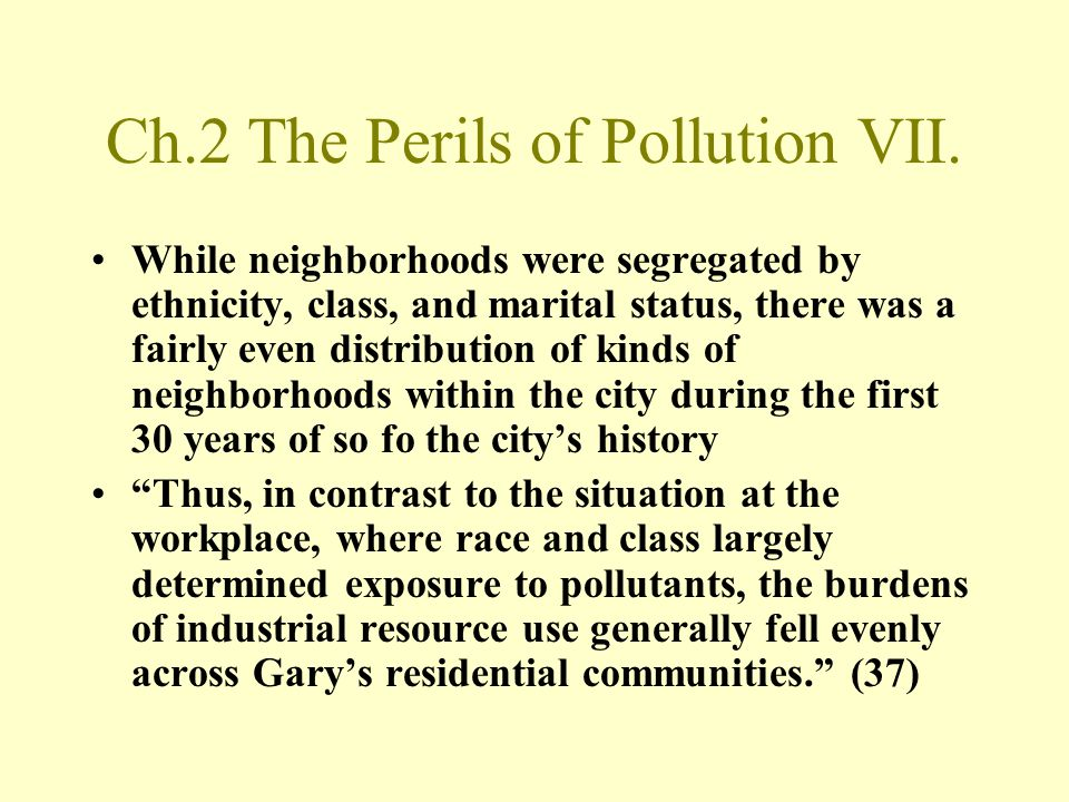 Ch.2 The Perils of Pollution VII.