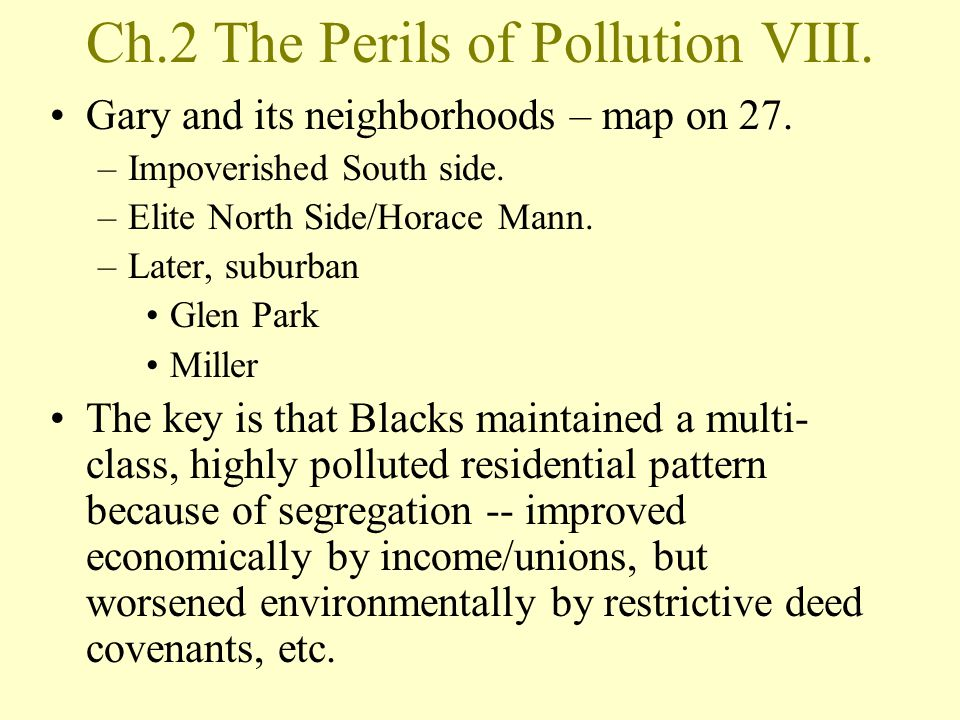 Ch.2 The Perils of Pollution VIII.