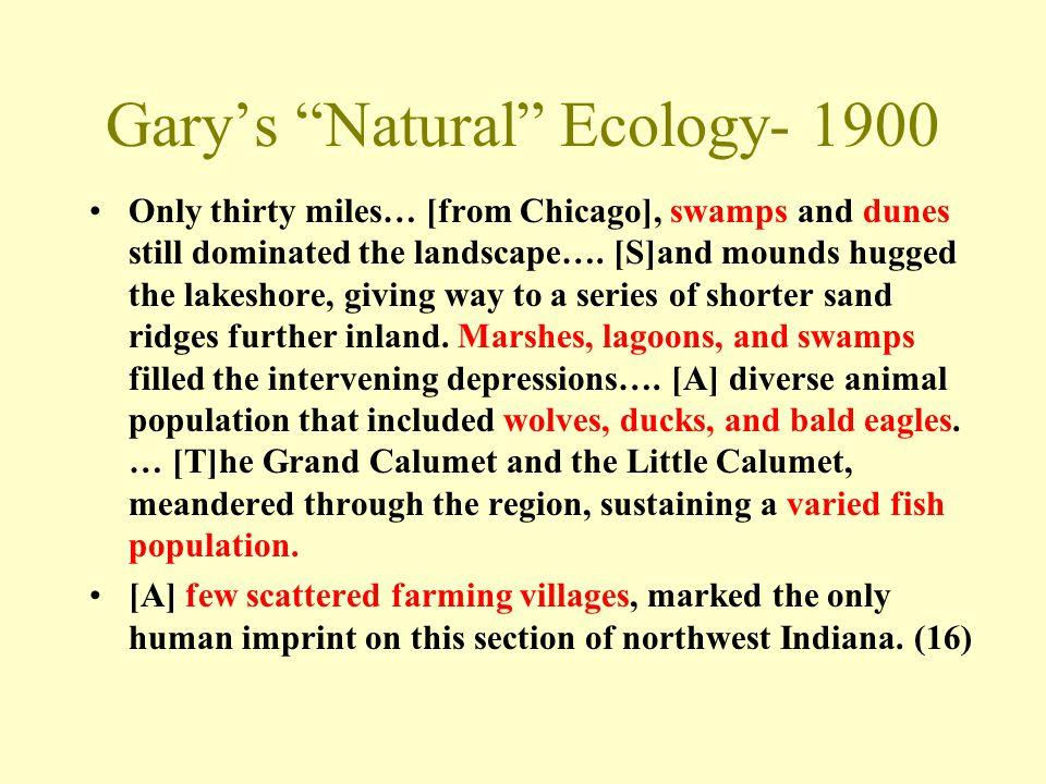 Gary's Natural Ecology- 1900