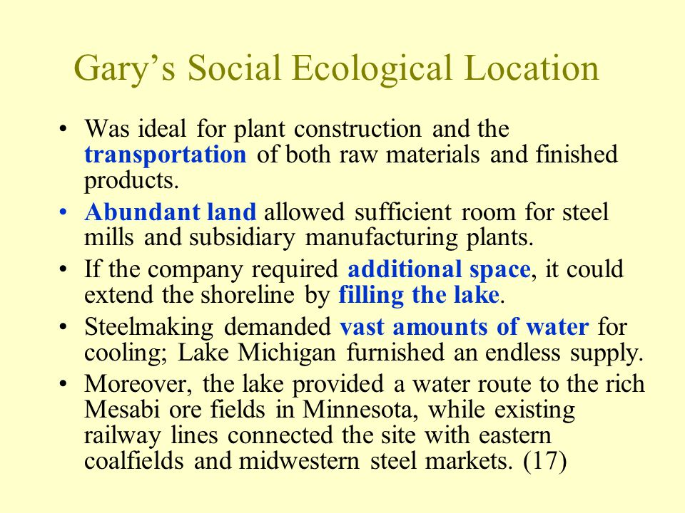 Gary's Social Ecological Location