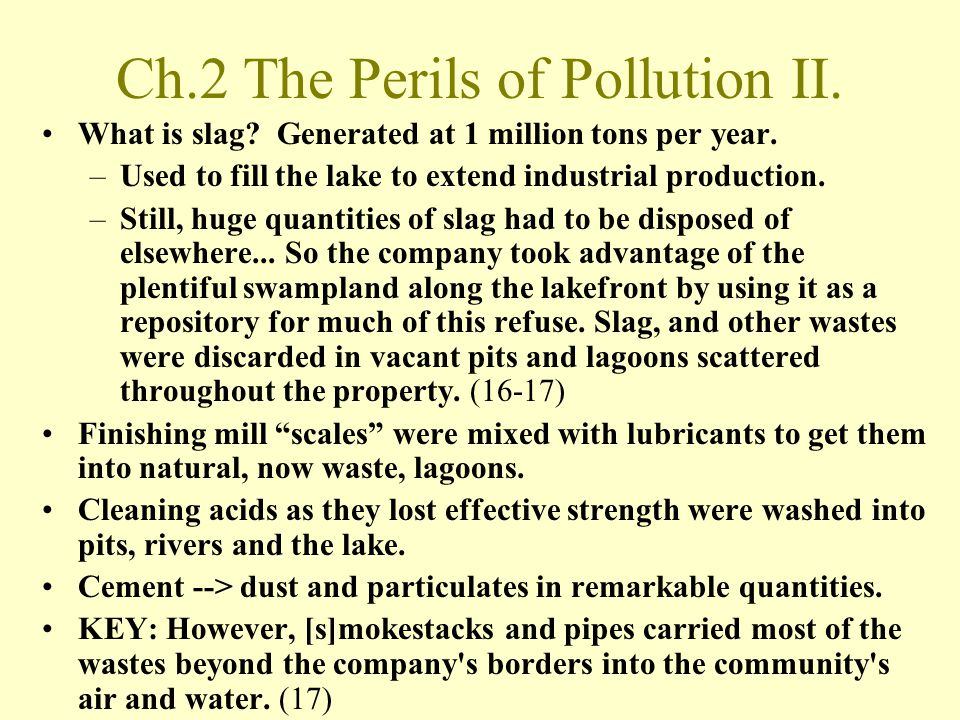 Ch.2 The Perils of Pollution II.