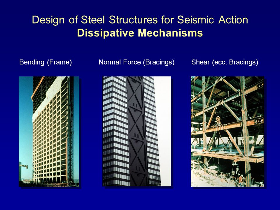 Design of Steel Structures for Seismic Action Dissipative Mechanisms