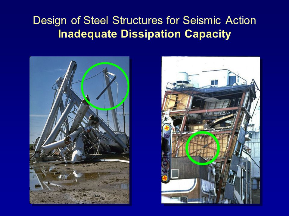 Design of Steel Structures for Seismic Action Inadequate Dissipation Capacity