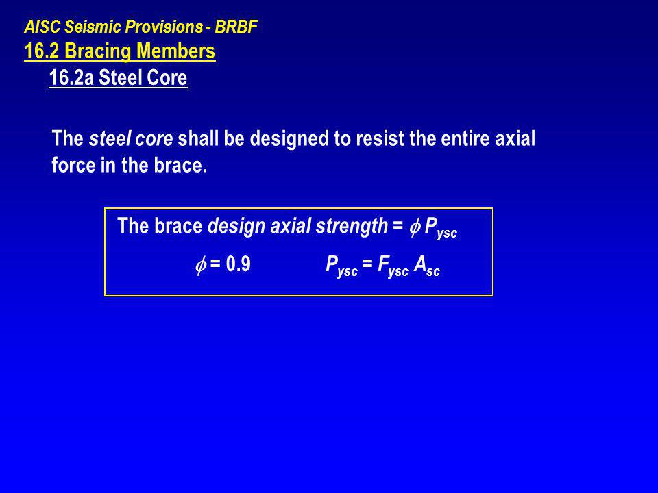 The brace design axial strength =  Pysc