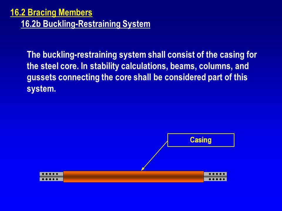 16.2b Buckling-Restraining System