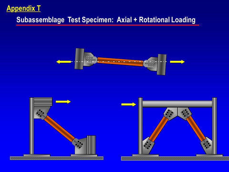 Subassemblage Test Specimen: Axial + Rotational Loading