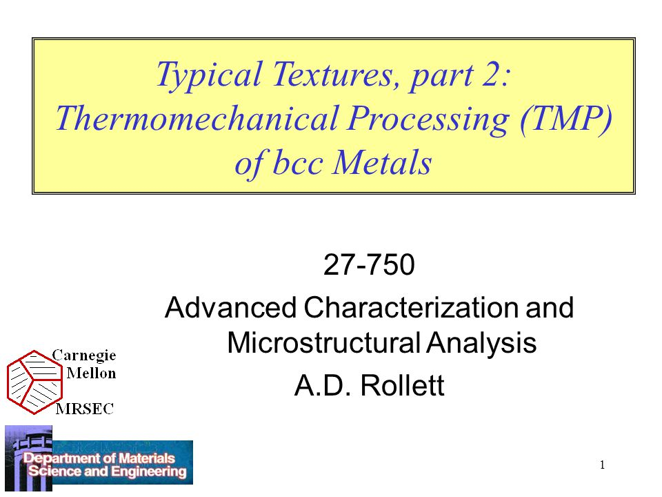 Advanced Characterization and Microstructural Analysis