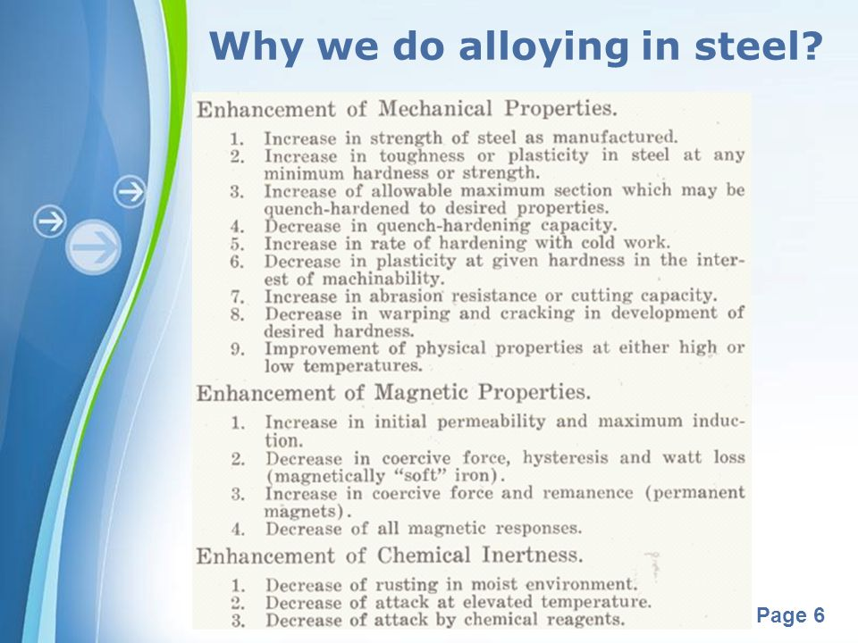 Why we do alloying in steel