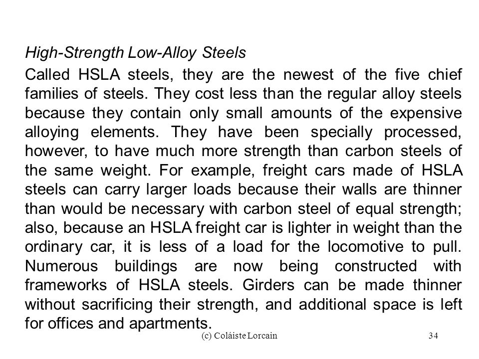 High-Strength Low-Alloy Steels