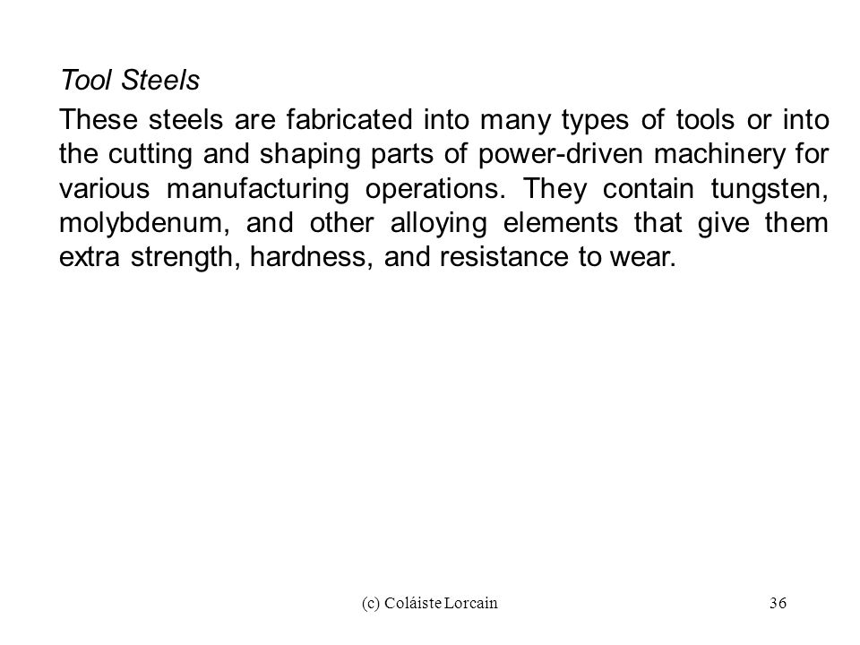 Tool Steels