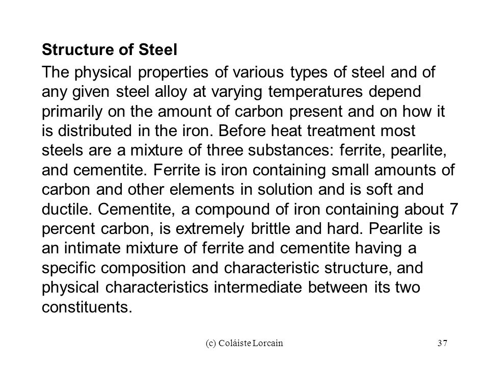 Structure of Steel