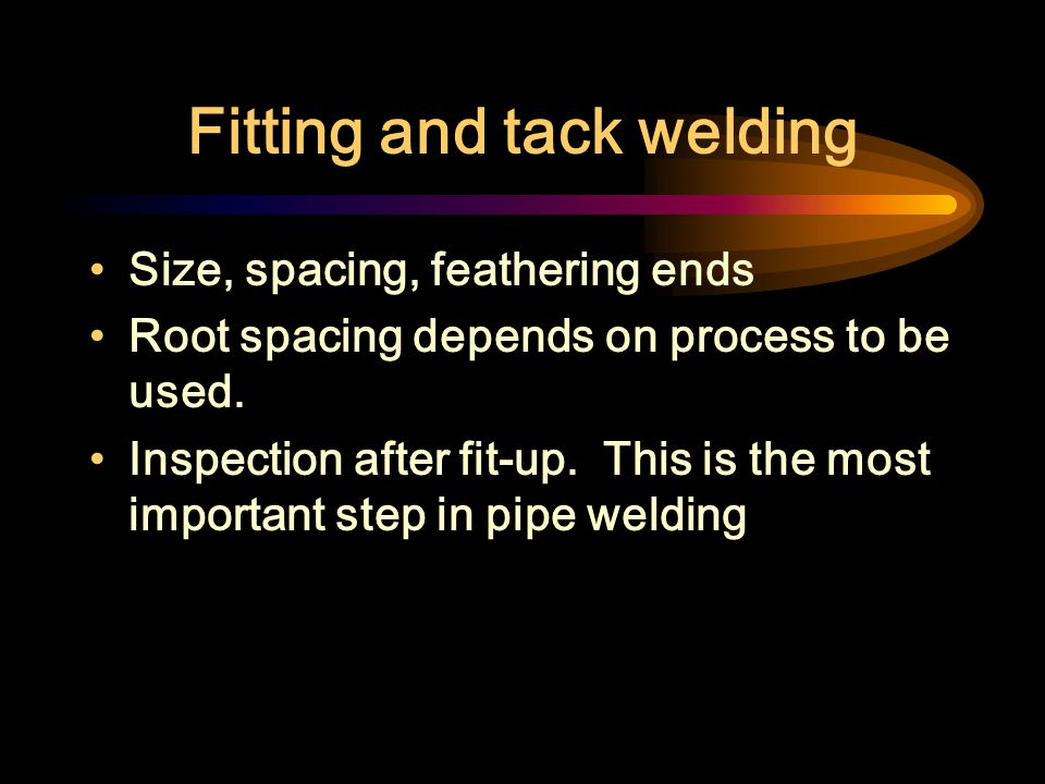 Fitting and tack welding