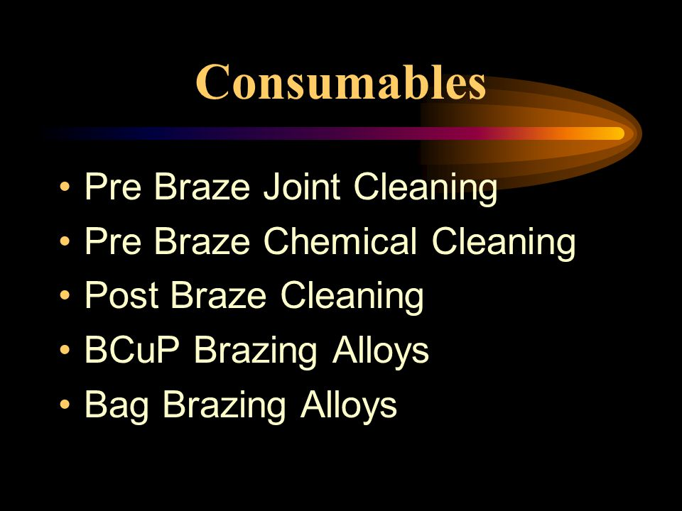 Consumables Pre Braze Joint Cleaning Pre Braze Chemical Cleaning