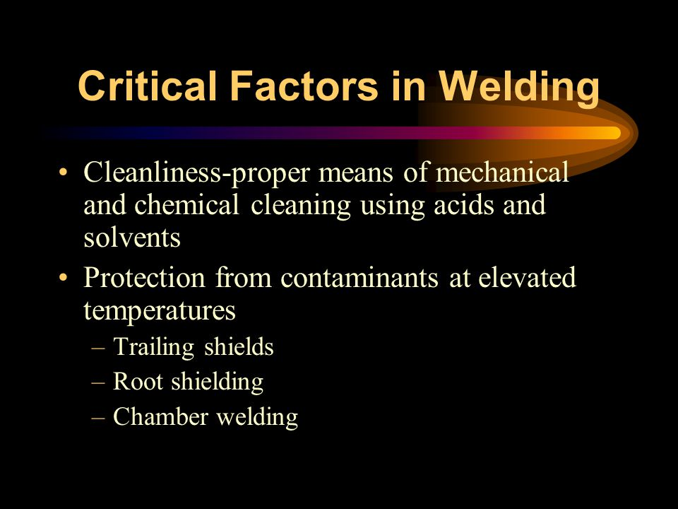 Critical Factors in Welding
