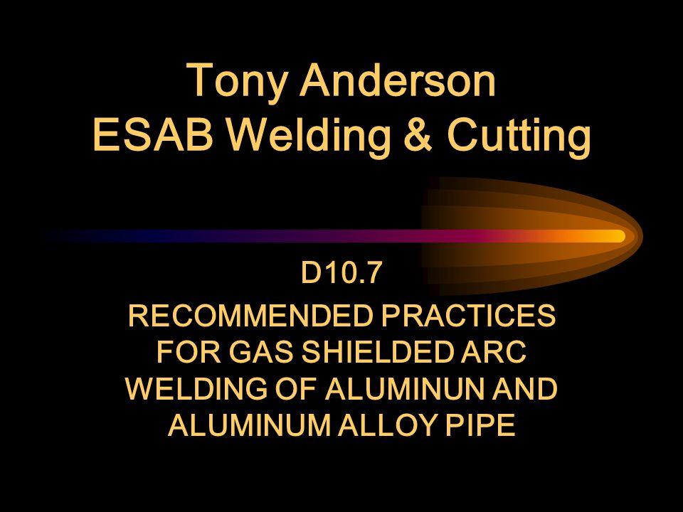 Tony Anderson ESAB Welding & Cutting