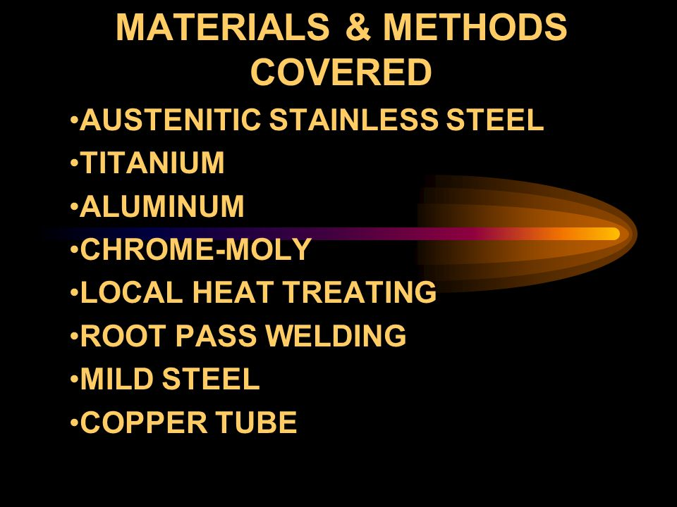 MATERIALS & METHODS COVERED
