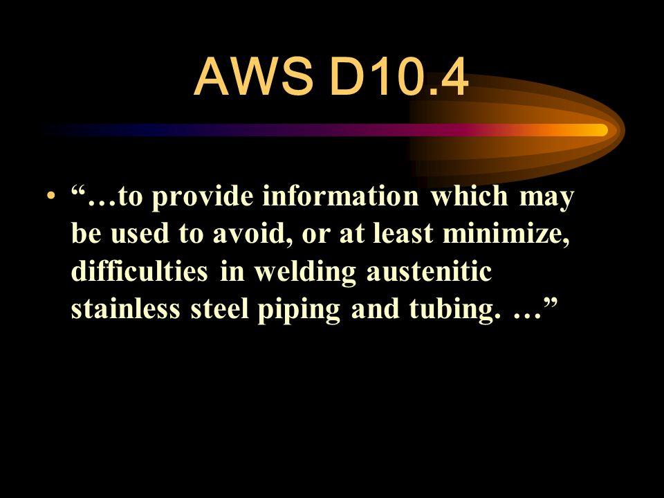 AWS D10.4