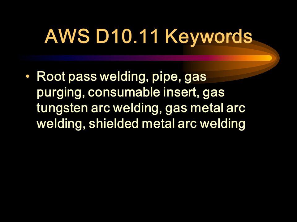 AWS D10.11 Keywords