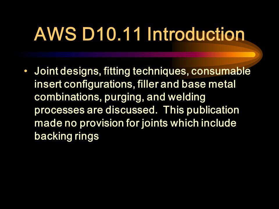 AWS D10.11 Introduction