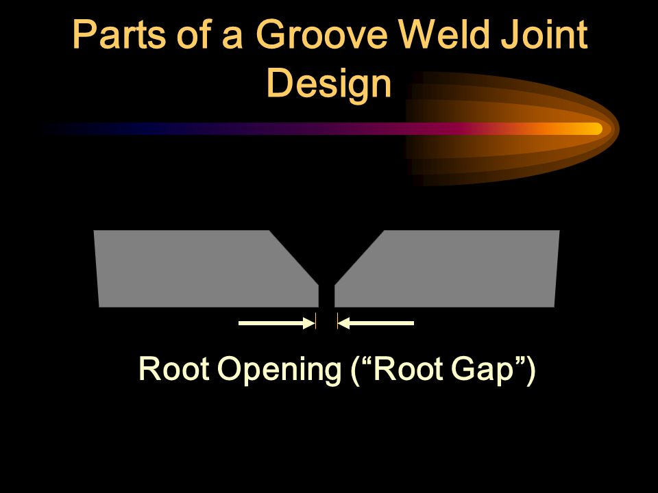 Parts of a Groove Weld Joint Design