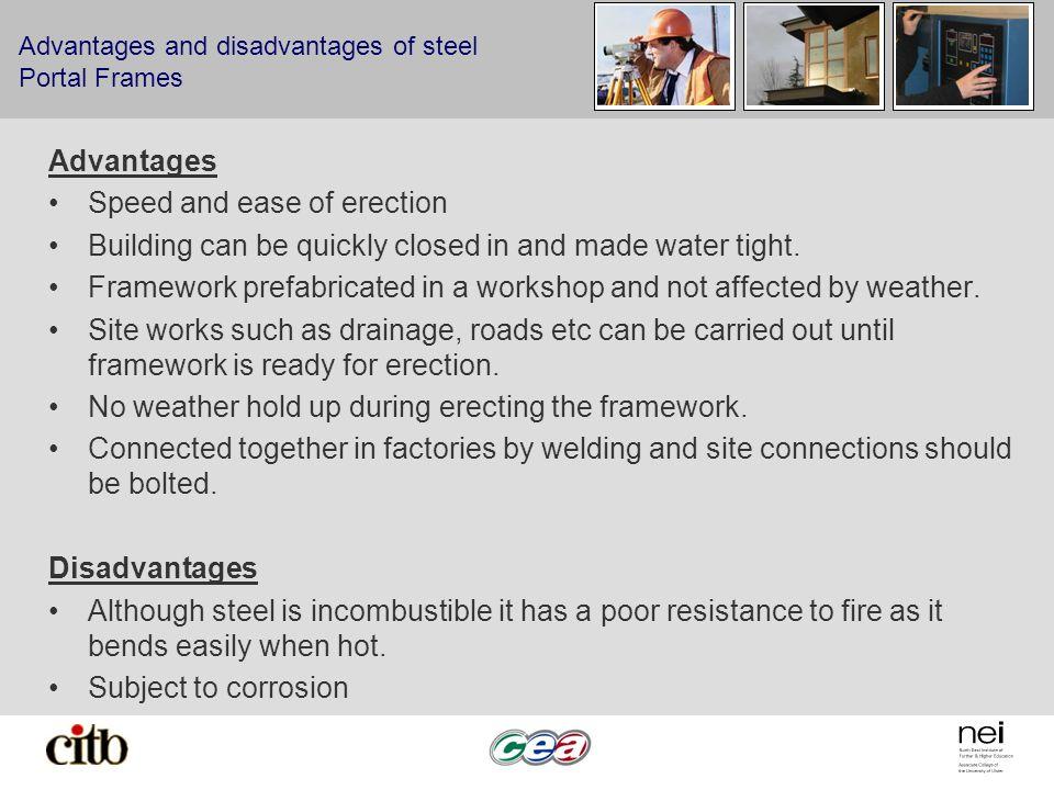 Advantages and disadvantages of steel Portal Frames