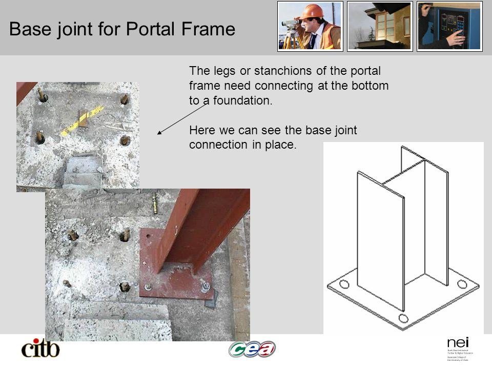 Base joint for Portal Frame