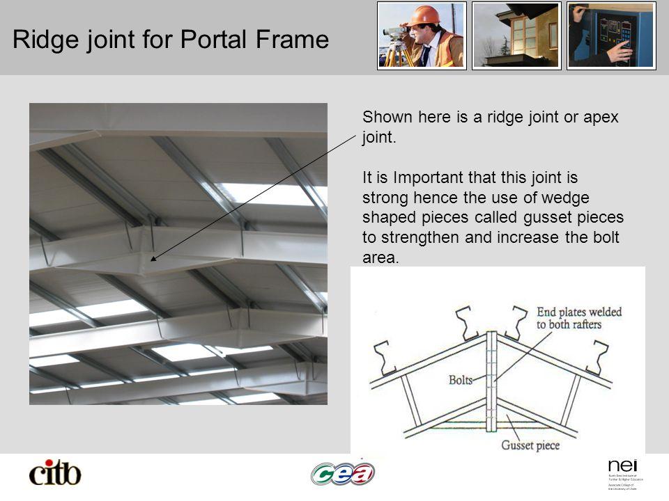Ridge joint for Portal Frame