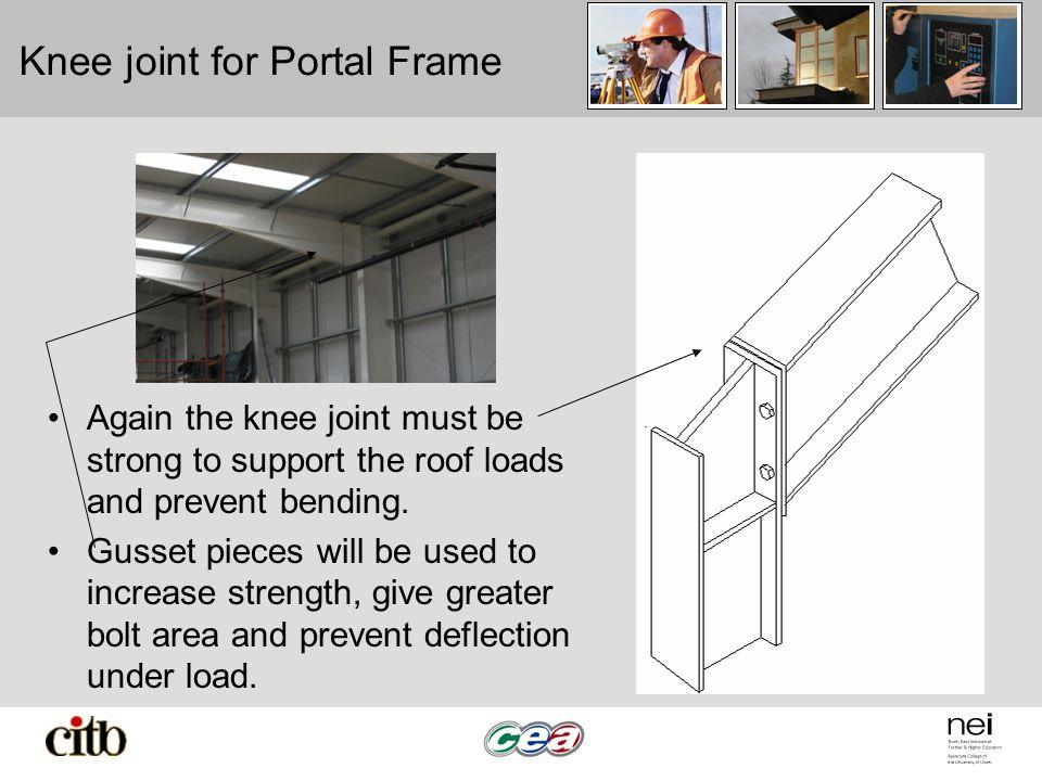 Knee joint for Portal Frame