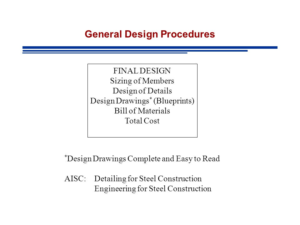 General Design Procedures