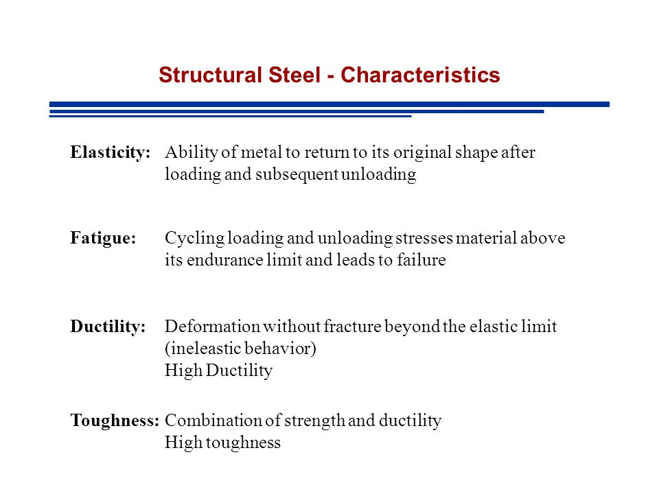 Structural Steel - Characteristics